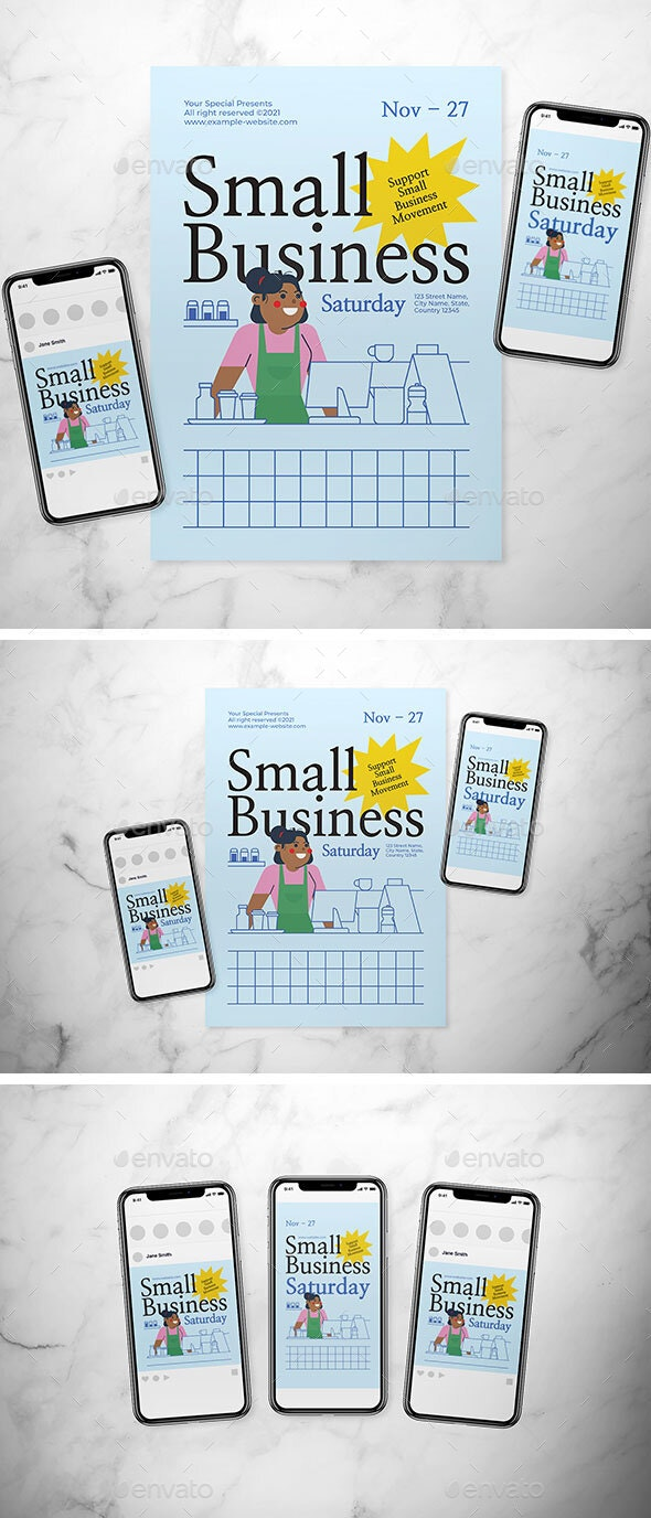 Small Business Saturday Flyer Set - Events Flyers