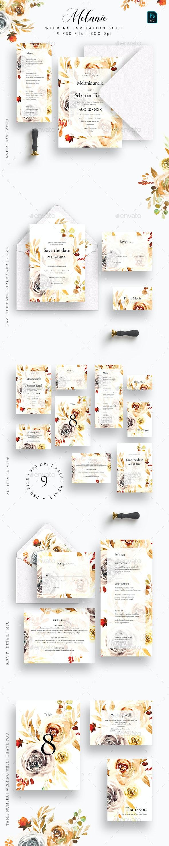 Melanie Wedding Invitation Suite - Weddings Cards & Invites