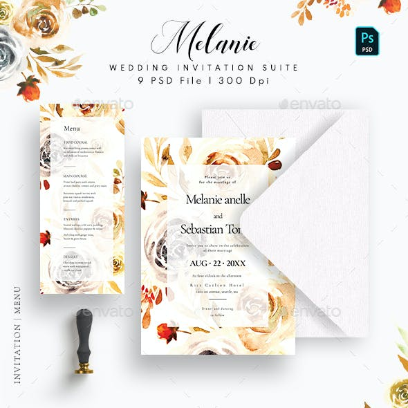 Melanie Wedding Invitation Suite