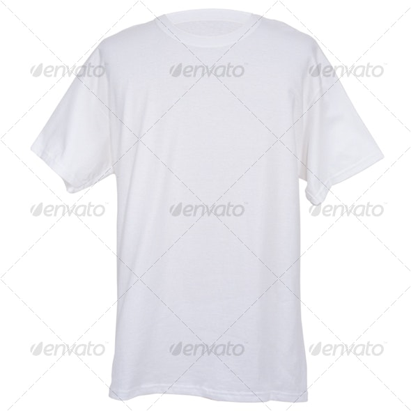 Mens White Tee Shirt - Clothes & Accessories Isolated Objects