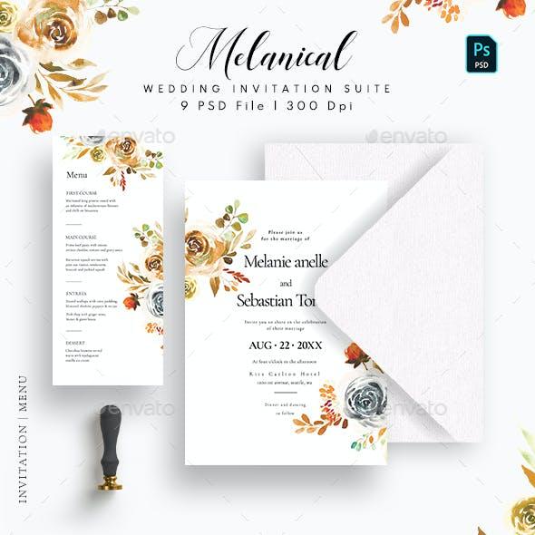 Melanical Wedding Invitation Suite