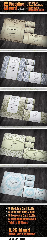 5 items Wedding Card ver 2.0