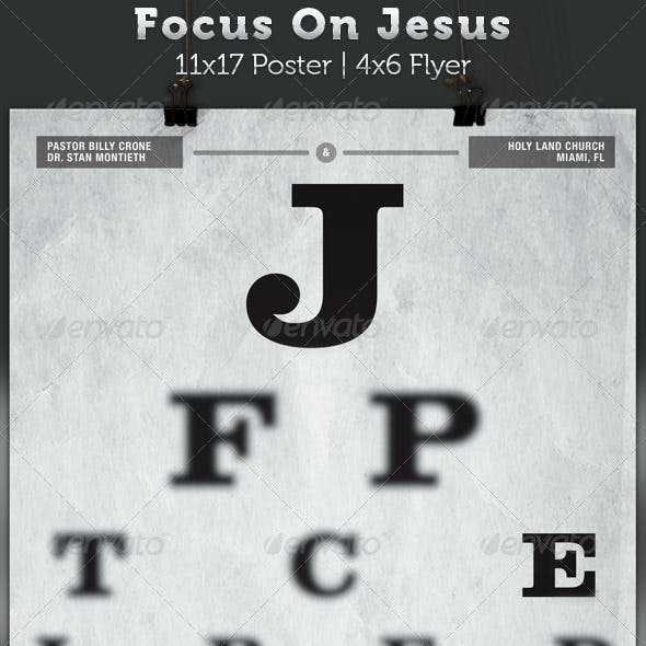 Focus On Jesus Church Flyer and Poster Template