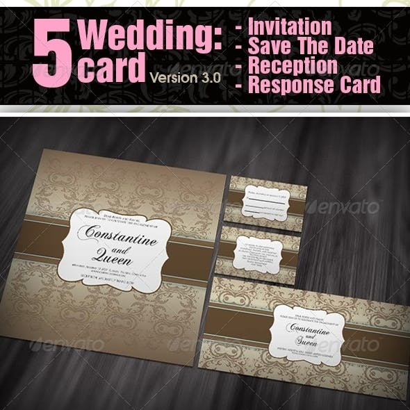 5 items Wedding card ver 3.0