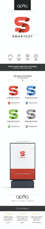 S Letter Sliced Logo - Letters Logo Templates