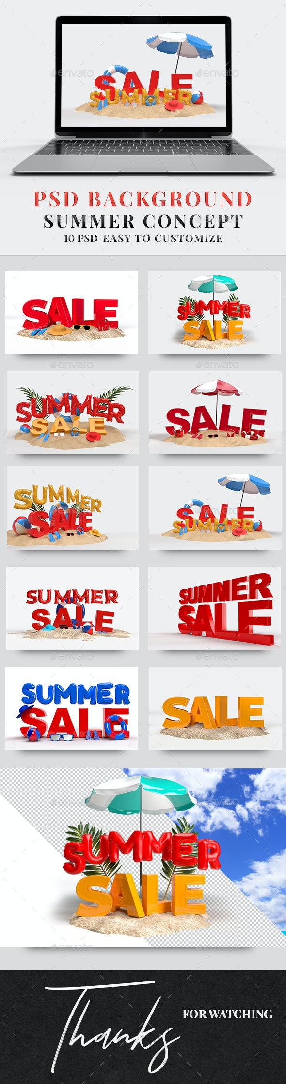 """PSD Background """" Summer Concept """" - Backgrounds Graphics"""