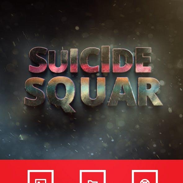 Suicide Squar Movie Text Effect