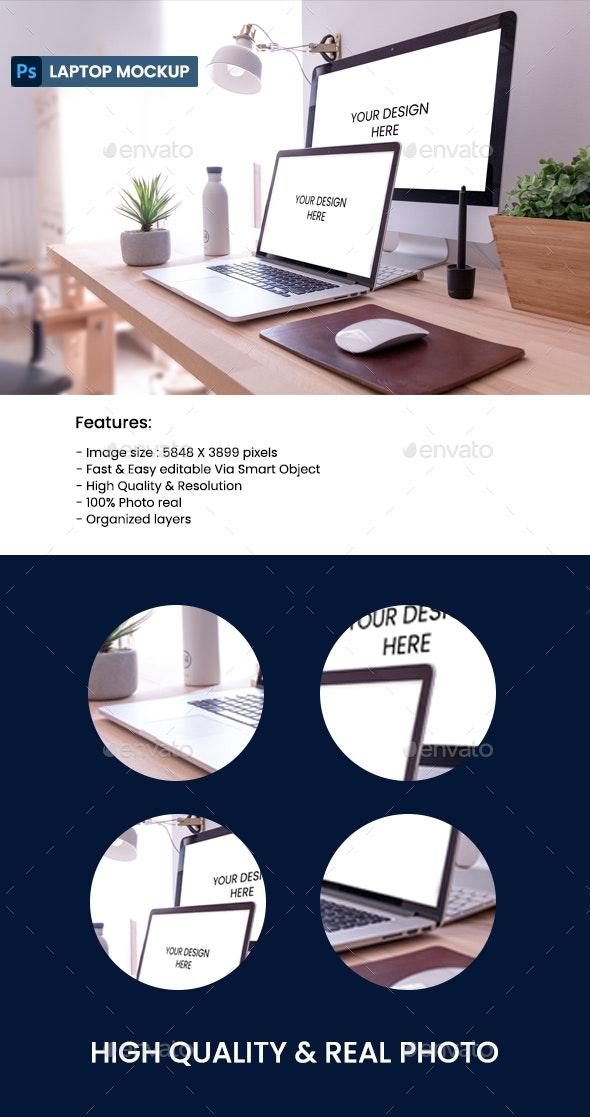 Laptop & Computer Mockup - Laptop Displays