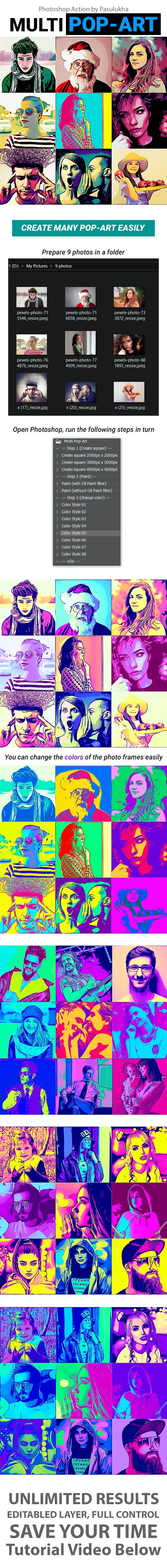 Multi Pop-Art - Photo Effects Actions