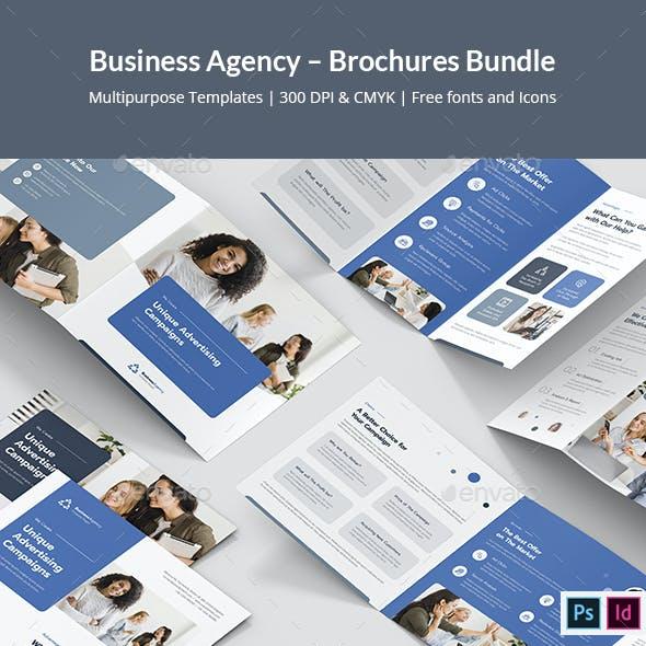 Business Agency – Brochures Bundle Print Templates 7 in 1