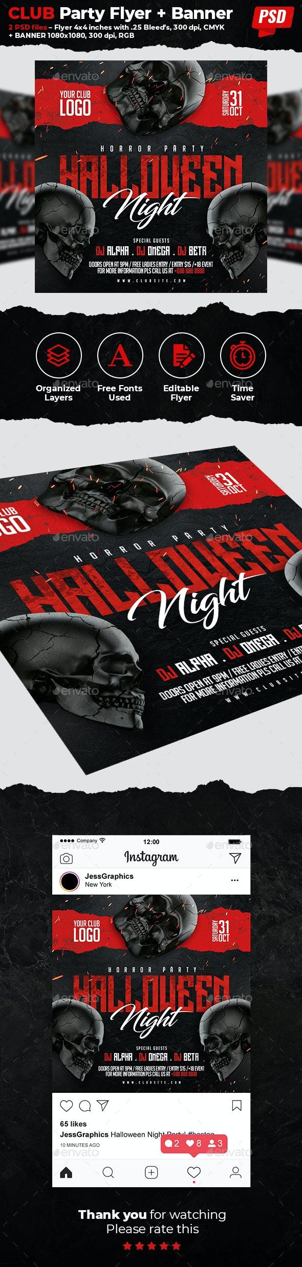 Halloween Flyer & Banner