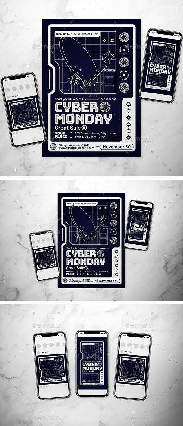 Cyber Monday Flyer Set - Events Flyers