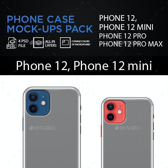 Phone Case Mock-ups Pack 4 in 1