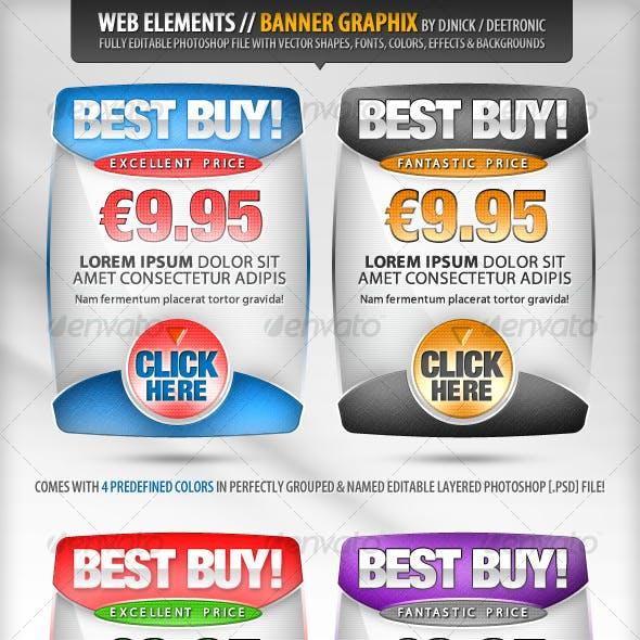 Web Elements - Banners Vector Graphix editable PSD
