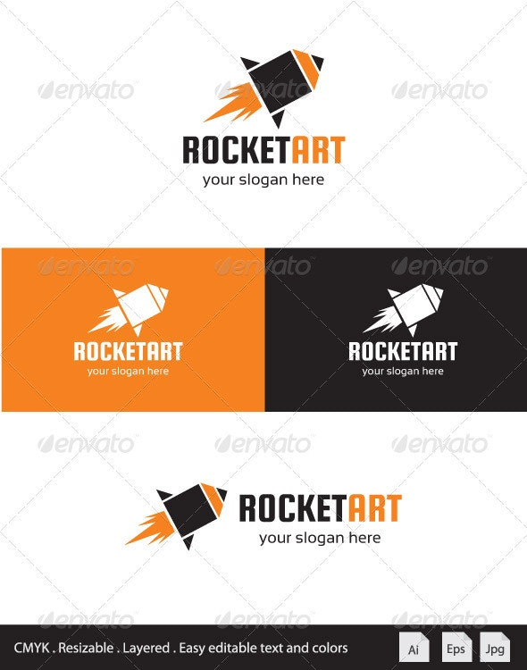 Rocket Art Logo - Symbols Logo Templates