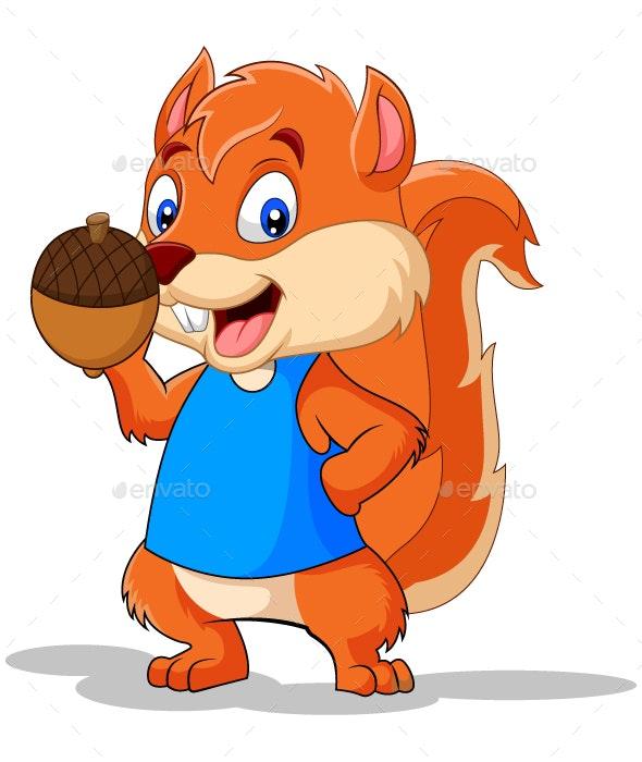 Squirrel Cartoon - Animals Characters