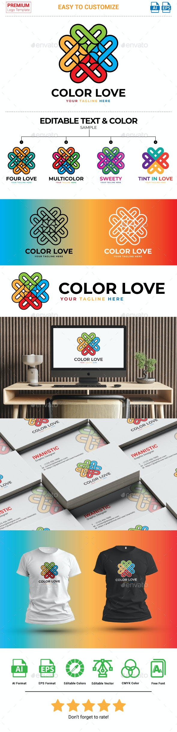 Color love logo - Objects Logo Templates