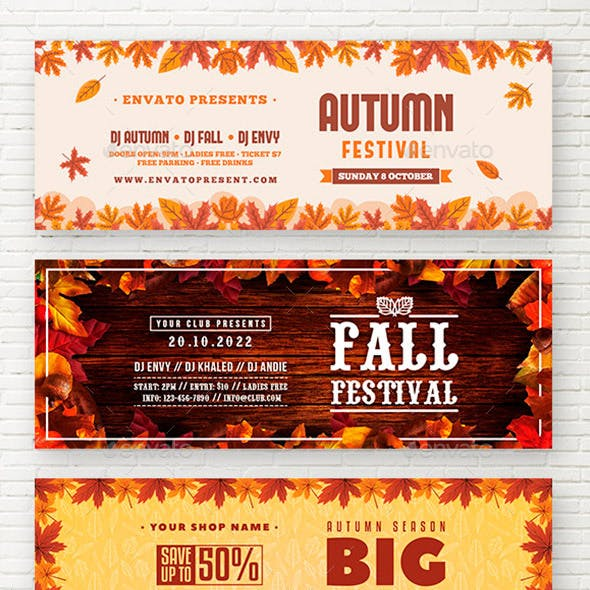 Autumn Fall Festival Web Sliders
