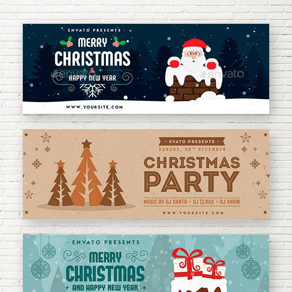 Christmas & New Year Web Sliders