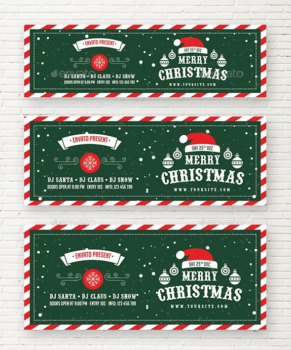 Merry Christmas Web Sliders - Sliders & Features Web Elements