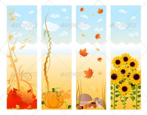 Vertical Autumn Banners - Seasons Nature
