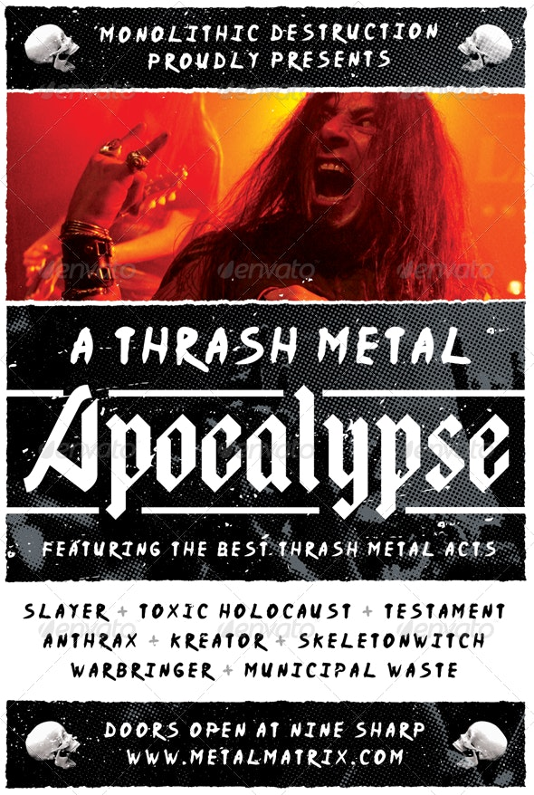 Metal Apocalypse - Heavy Metal Flyer Template