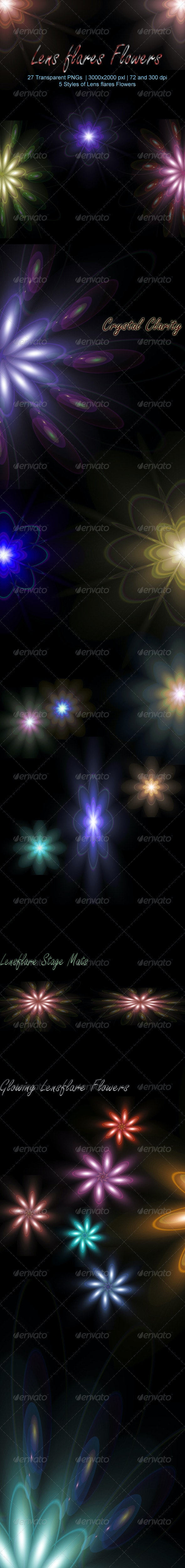 Lens flares Flowers  - Miscellaneous Backgrounds