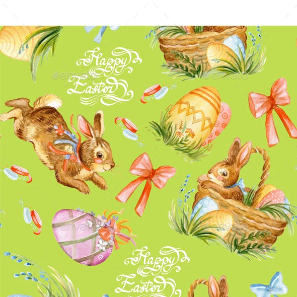 Seamless Pattern with Easter Eggs 4