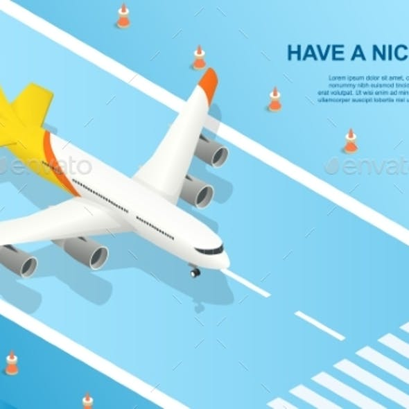 Have a Nice Flight Concept with the Plane