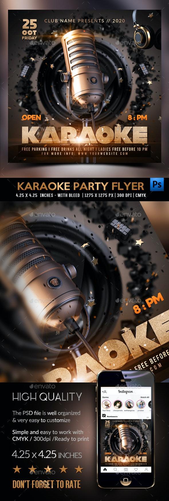 Karaoke Flyer Template - Clubs & Parties Events