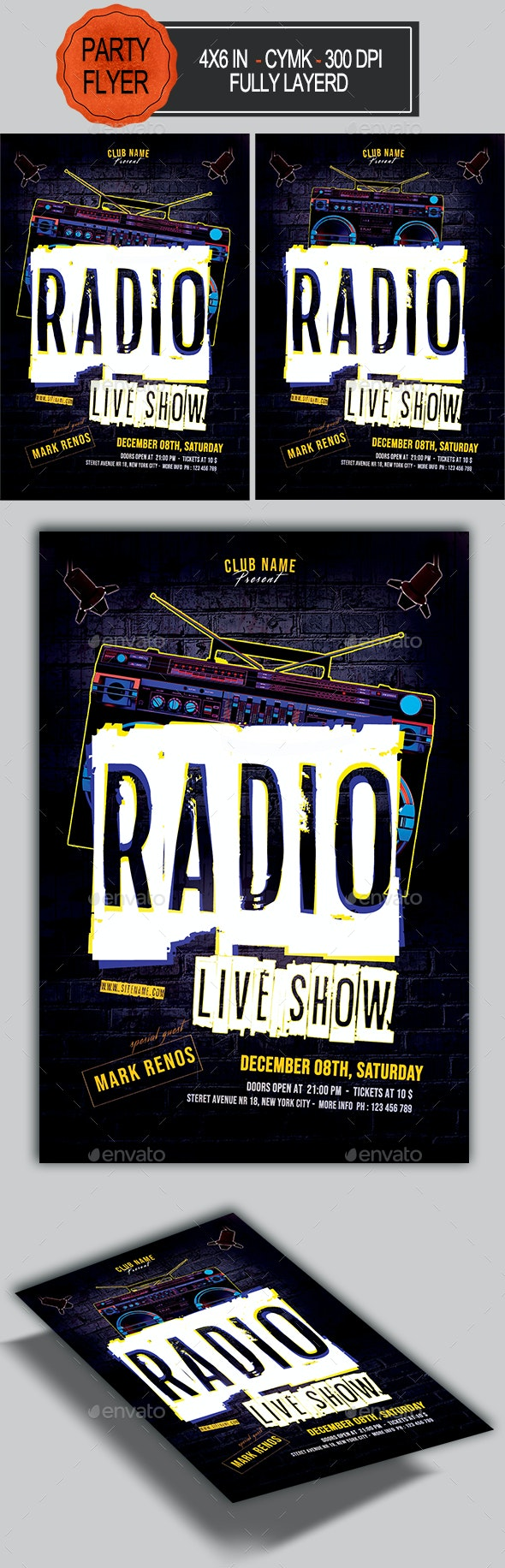 Radio Show Flyer - Clubs & Parties Events
