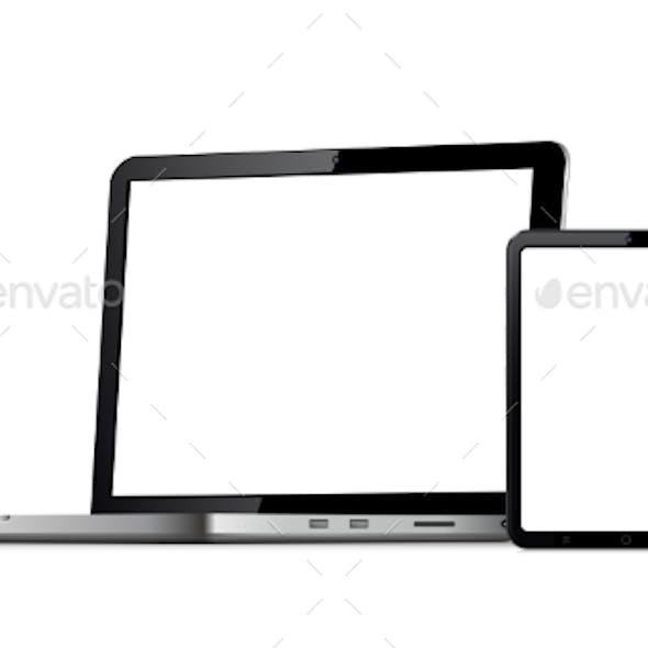 Blank Screen Phone Tablet Laptop