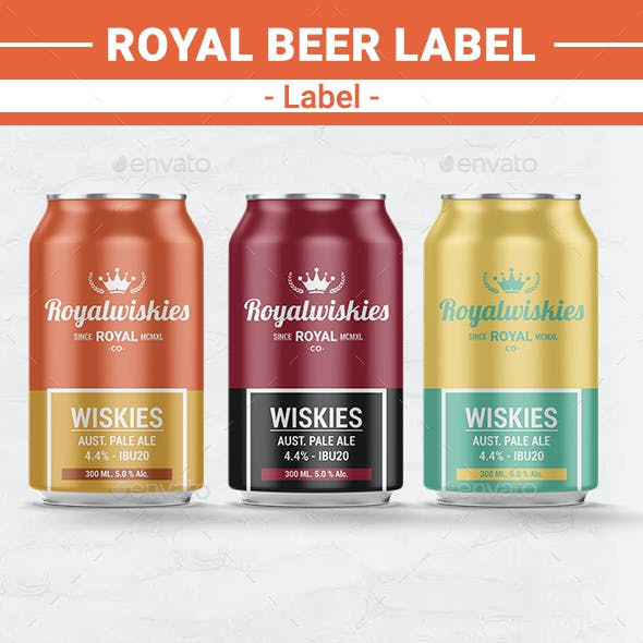 Royal Beer Label Template