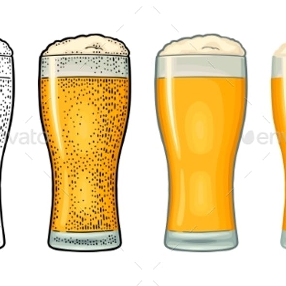 Four Different Glasses for Beer