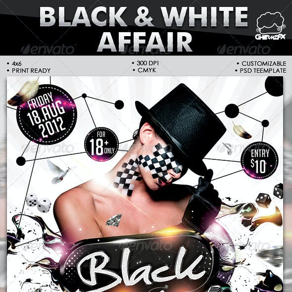 Black & White Affair Flyer Template