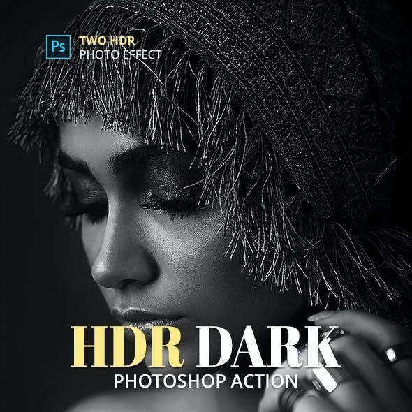 HDR Dark Photoshop Action
