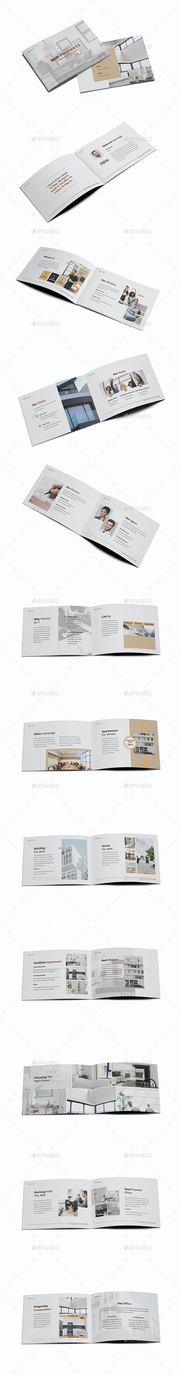 Apartment Property A5 Brochure Template - Brochures Print Templates