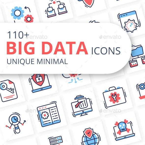 Big Data Minimal Icons