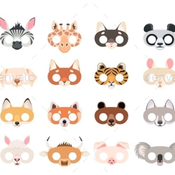 Animal Mask Set Photo Booth Props