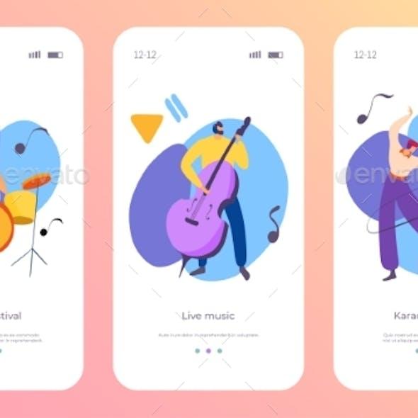 Instrument Set Cartoon App Concept Vector