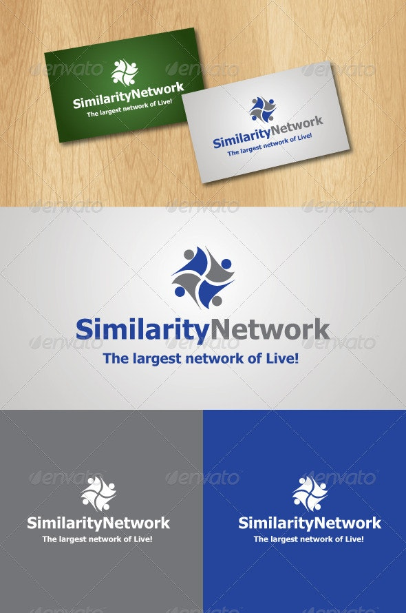 Similarity Network Logo Template - Abstract Logo Templates