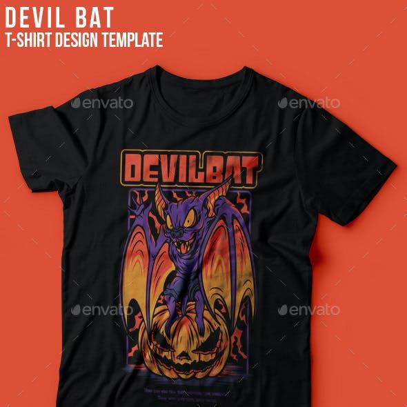 Devil Bat T-Shirt Design