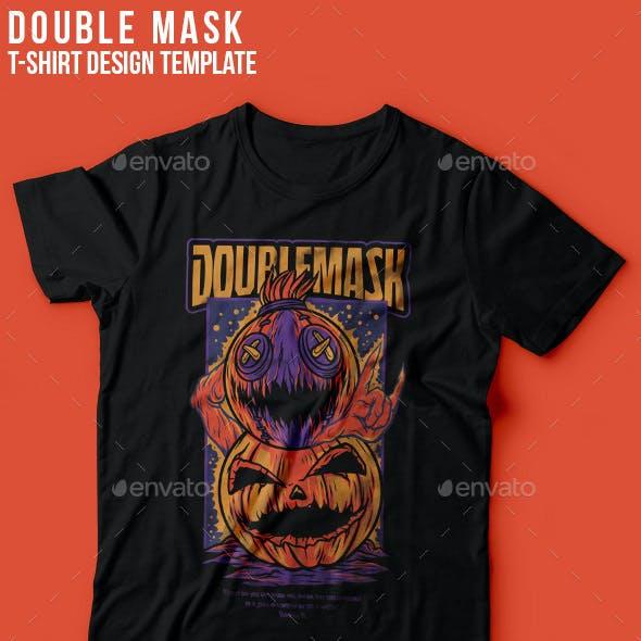 Double Mask T-Shirt Design