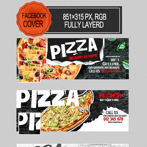 Pizza Delivery Facebook Covers