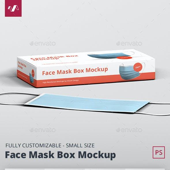 Face Mask Box Mockup Small Size