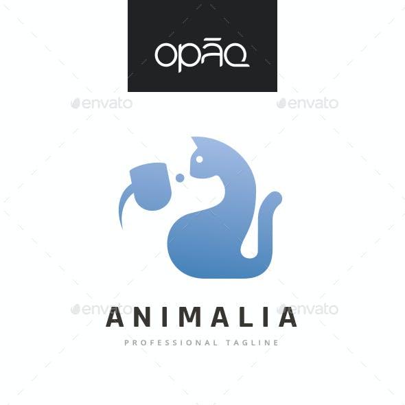 Cat And Dog Animal Logo