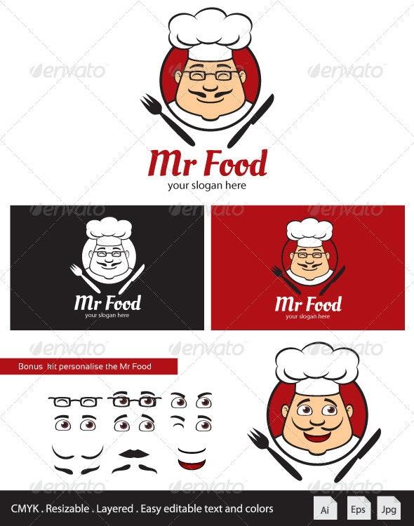 Mr Food Logo Mascot