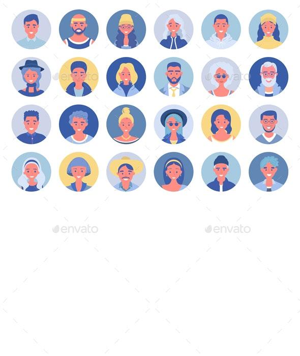 People Avatar Set - People Characters