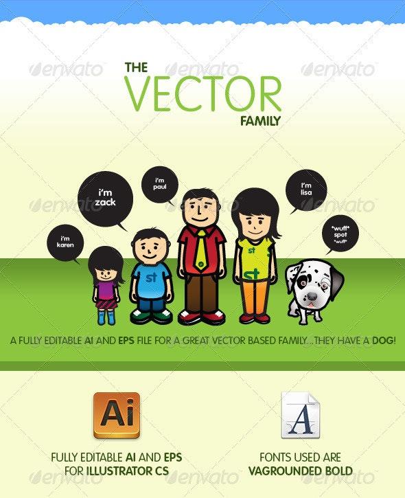 Vector Family - Characters Vectors