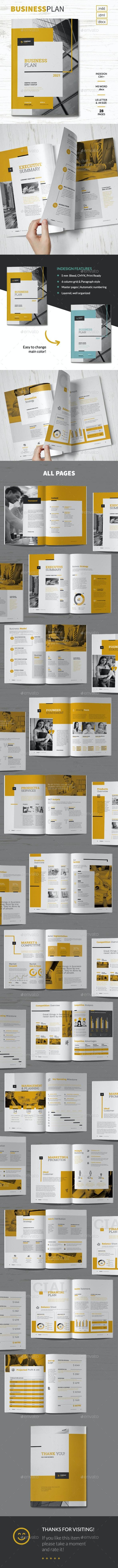 Business Plan - Brochures Print Templates
